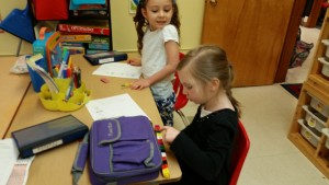 Measuring our lunch boxes was fun!