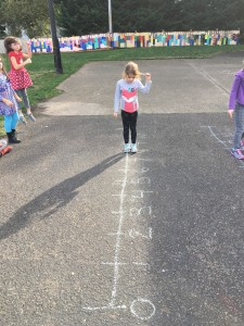 Subtraction on the number line.